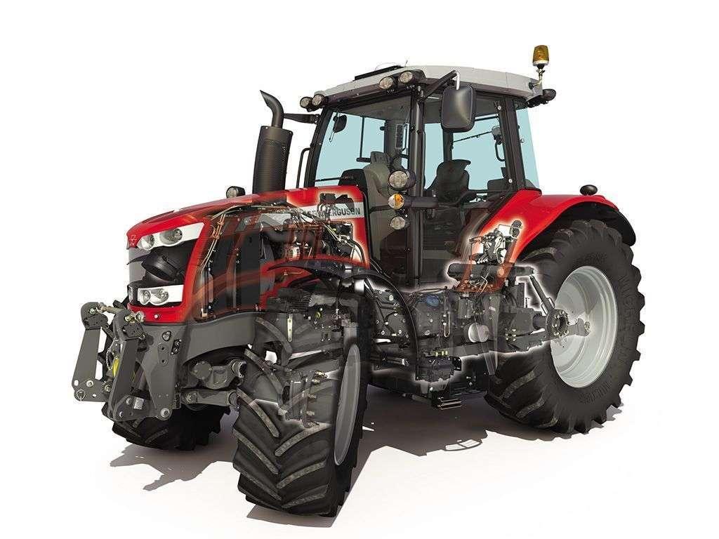 schemat budowy ciągnika rolniczego Massey Ferguson serii 6600