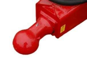 Zaczep kulowy stosowany przy dolnych zaczepach do bezpiecznego ciągnięcia przyczep o dużych pojemnościach