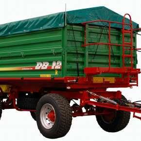 Przyczepa Metaltech DB 10, trójstronny wywrót, dwuosiowa, ładowność 10 ton