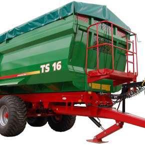Przyczepa rolnicza TS 16 z firmy Metaltech sprzedawana przez firmę Korbanek sp. z o.o.