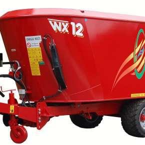 Wóz paszowy WX 12, dwuślimakowy o pojemności 12 m3 dostępny w firmie Korbanek