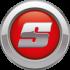 Okrągłe logo z literą S na czerwonym stoll tle korbanek.pl