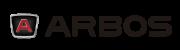 Logo Arbos z czerwonym A i napisem Arbos