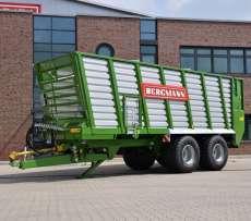 Przyczepa do transportu materiału objętościowego zielonki kiszonki czy sianokiszonki typ HTW  firmy Bergmann