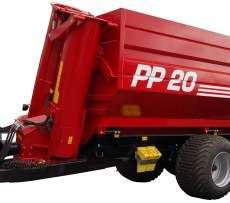 Zdjęcie przedstawiające przyczepę PP przeładunkowej do zboża z firmy Metaltech, sprzedawanej przez firmę korbanek.pl