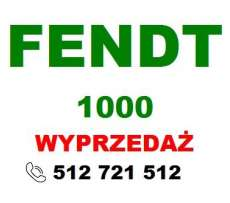 Zielony napis Fendt i czerwony wyprzedaż na białym tle