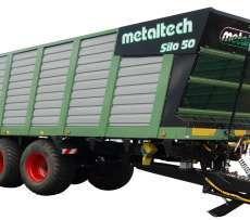 Zdjęcie przedstawiające przyczepę Metaltech SILO 50,  objętościowa do zbierania sieczki i kukurydzy, wiecej informacji na str www.korabnek.pl