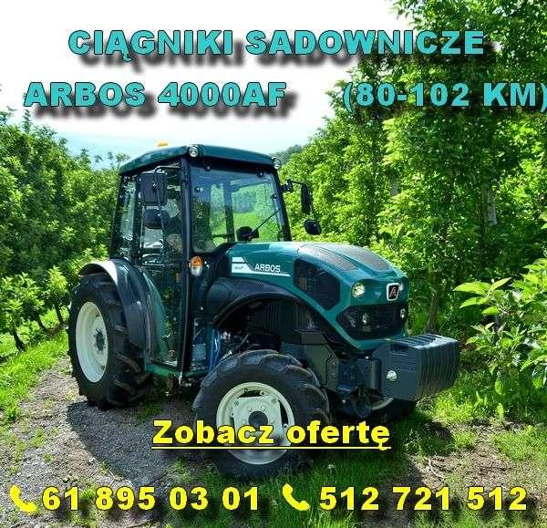 ciągniki sadownicze Arbos 4000 AF 80-102 KM dostępne w firmie korbanek