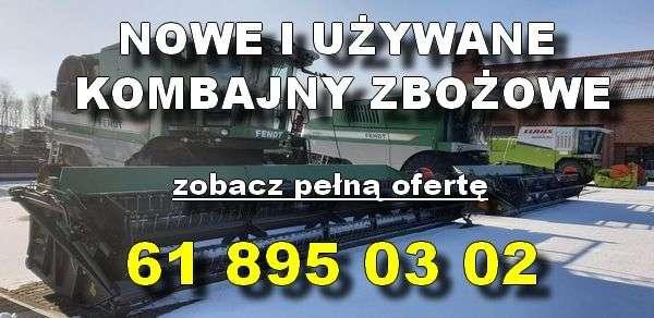 Nowe i używane kombajny zbożowe na utwardzonym placu z oferty www.korbanek.pl