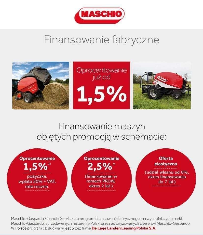 Prasy Maschio finansowanie fabryczne od 1,5 %