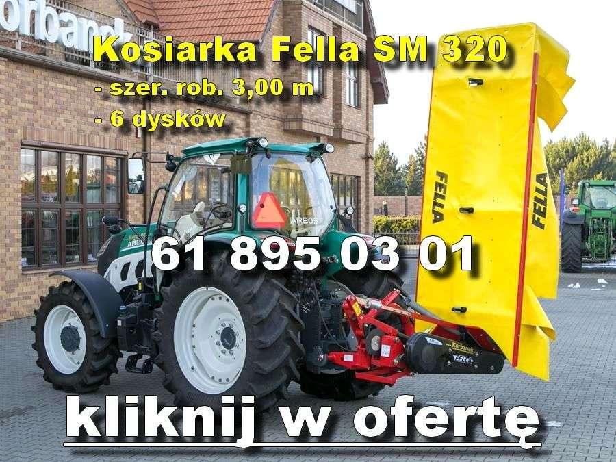 Kosiarka Fella SM 320 na tle sklepu www.korbanek.pl