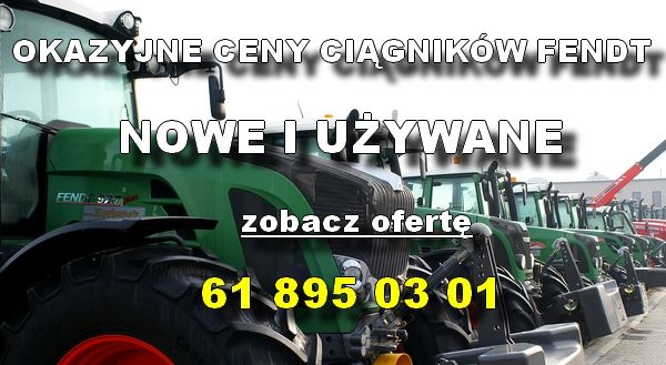 Okazyjne ceny na ciągniki Fendt z oferty korbanek.pl