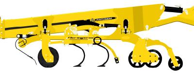 AgregatyAgrisem VIBROGERMmogą byćwyposażone w 2 rzędy zębów ze skrzydłami rysunek maszyny na białym tle Korbanek.pl