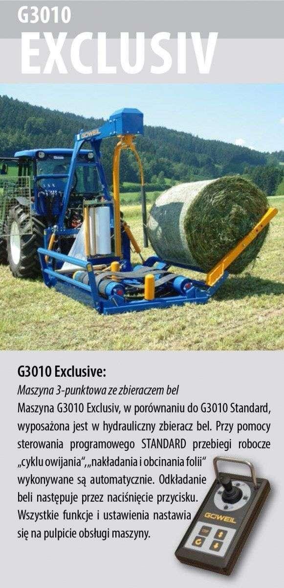 Owijarka Göweil  G3010 Exclusiv  opis wyposażenia