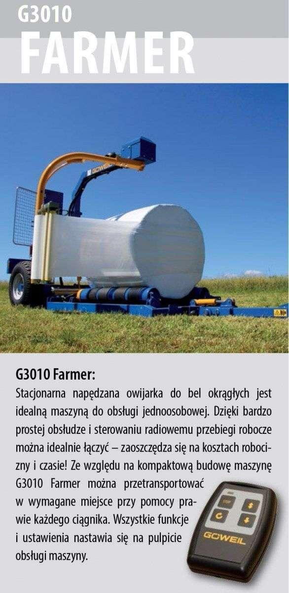Owijarka Göweil  G3010 Farmer opis wyposażenia