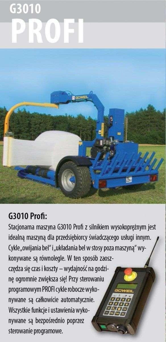 Owijarka Göweil G3010 Profi opis wyposażenia