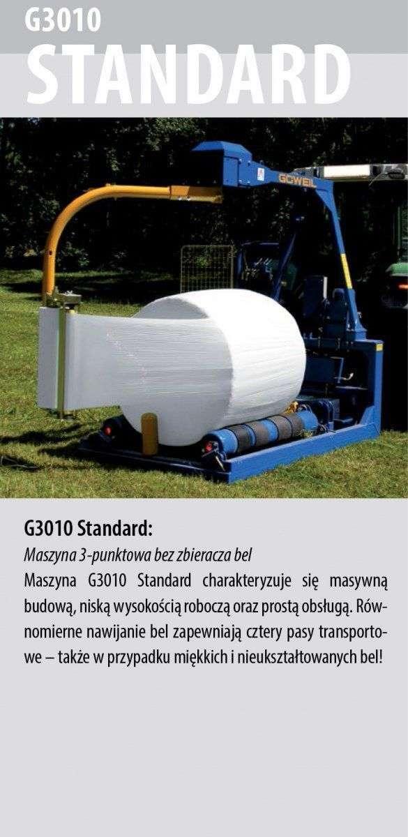 Owijarka Göweil  G3010 Standard opis wyposażenia
