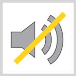 Przekreślony głośnik - brak hałasu pdczas pracy elektrycznej ładowarki Kramer KL 25.5 e