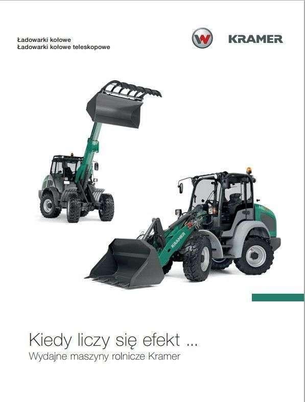 Ładowarki kołowe Kramer seria KL 19.5 broszura inforamcyjna od korbanek.pl