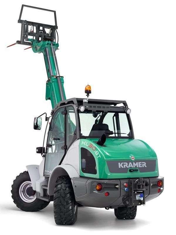 Ładowarka Kramer KL 30.8 T z widłami do palet uniesinymi wysoko od Korbanek Sp. zo.o.
