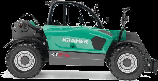 Ładowarka niemieckiego producenta Kramer seria KT 276 bez osprzętu widok na prawy bok