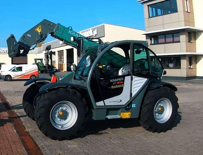 Solidna niemiecka ładowarka Kramer KT 559 z łyżką do materiałów sypkich od www.korbanek.pl