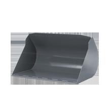 Łyżka do materiałów lekkich kompatybilna z ładowarkami Kramer stosowana do przewozu towarów oraz rozładuku i załadunku