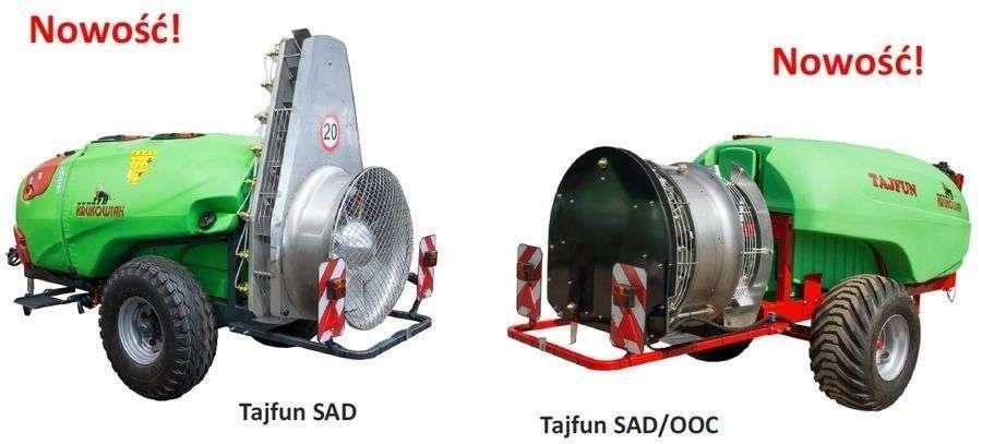 Opryskiwacze sadowniczeKrukowiak TAJFUN modele przyczepiane SAD i SAD/OOC.