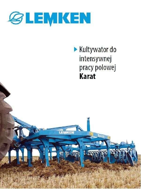 kultywator do intensywnej pracy polowej agregat podorywkowy firmy Lemken typ Karat