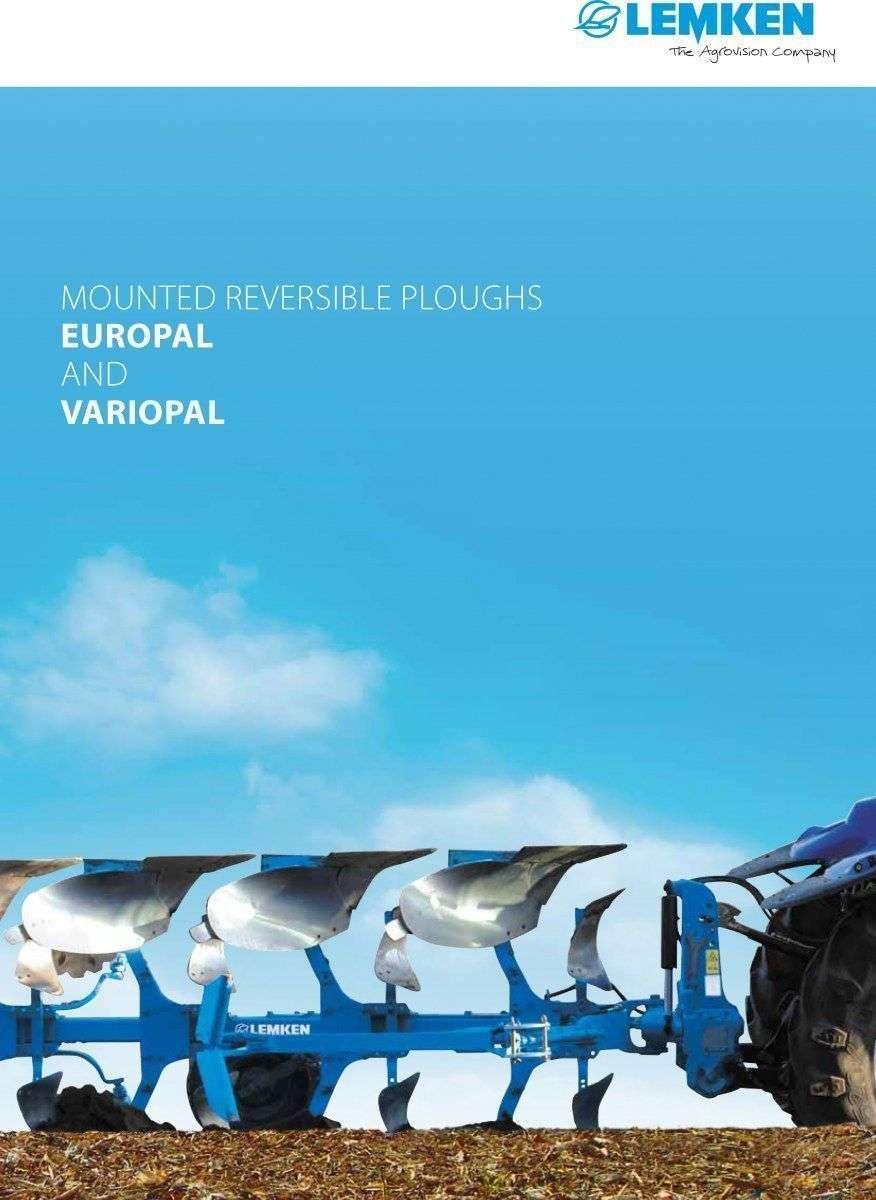VariOpal Lemken pług obrotowy ze zmienną szerokością orki podczas pracy