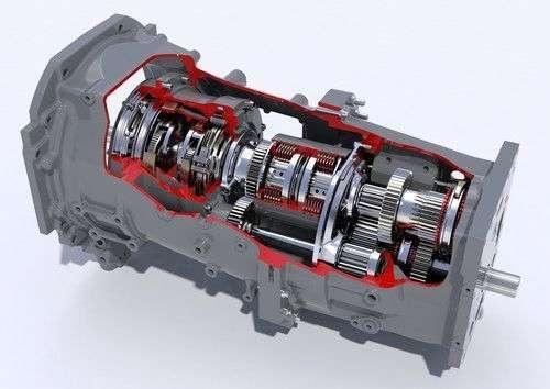 schemat budowy skrzyni przekładni napędowej DYNA 4 w ciągnikach Massey Ferguson serii 7600