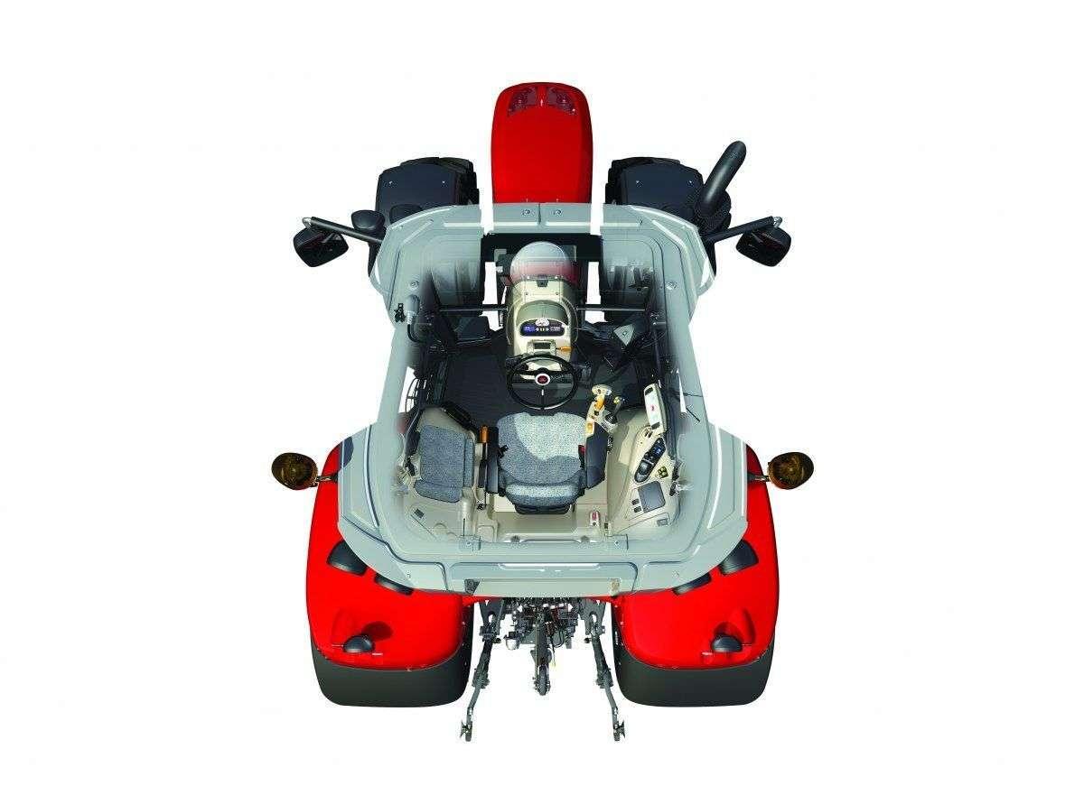 wersja wyposażenia Essential ciągnika Massey Ferguson serii 7600 schemat rzut ciągnika z góry