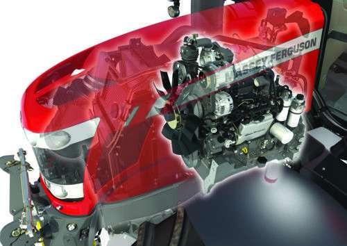 Ciągnik Massey Ferguson z silnikiem 4-cylindrowym