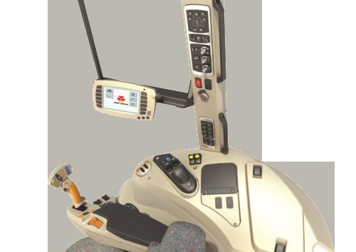 wyposażenie wersji Exclusive serii 7600 Massey Ferguson zdjęcie prawego panela obsługi monitora i dźwigni