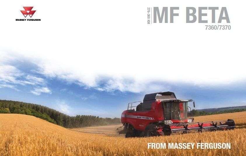 prospekt reklamowy kombajnu zbożowego Massey Ferguson Beta