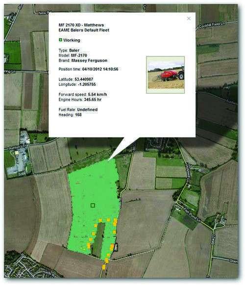 Agcommand system telemetryczny zbiera dane dotyczące lokalizacj ustawień i wydajności