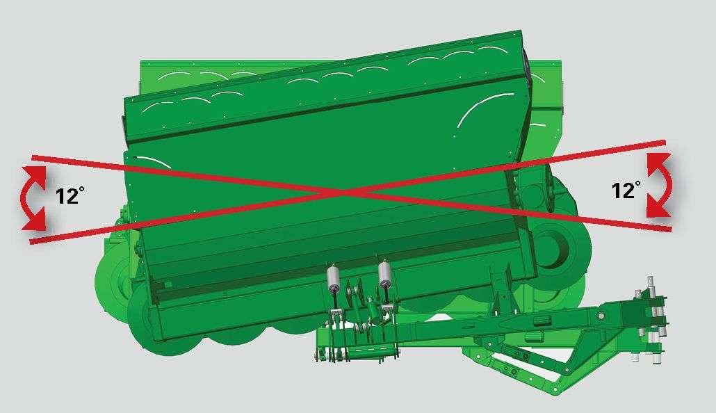 McHale R3100- ruch poprzeczny kosiarki