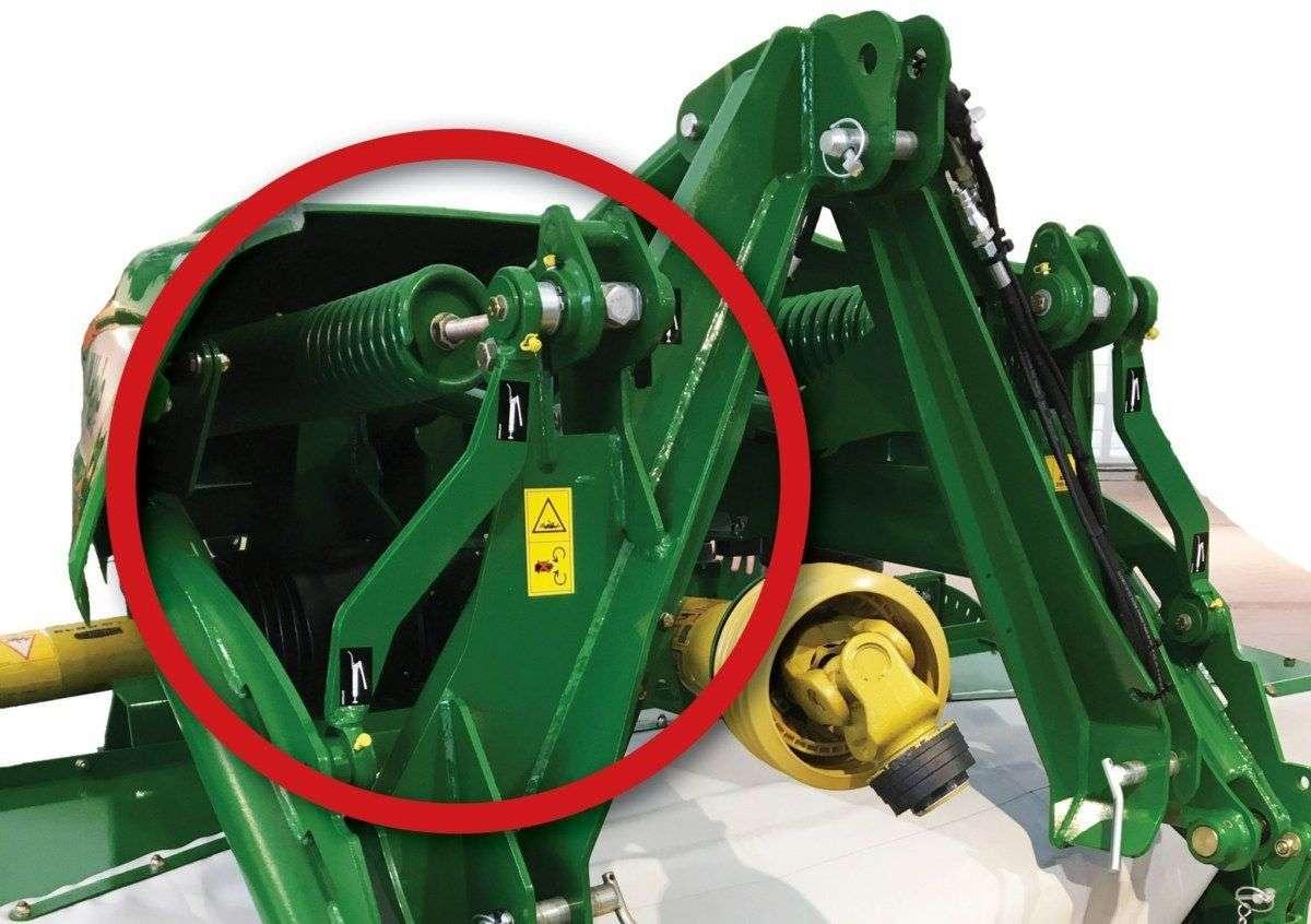 System zawieszenia kosiarki F3100