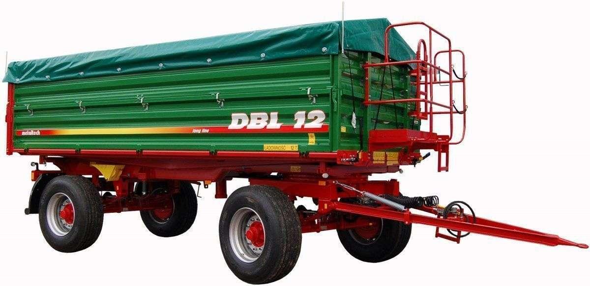 Przyczepa Metaltech model DBL, zdjęcie poglądowe, sprzętu który można nabyć poprzez korbanek.pl.