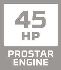 Ikona na stronie korbanek informuje o silniku Polaris Prostar o mocy 45 KM