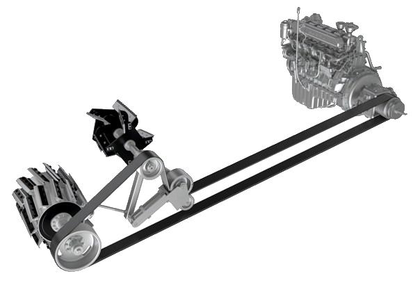 Schemat napędów w sieczkarni polowej RSM 1403