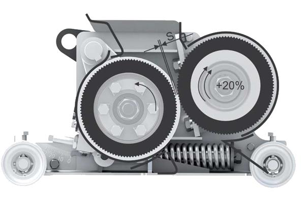przekrój rozdrabniacza w sieczkarni polowej RSM 1401/1403