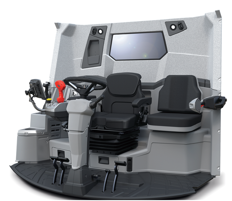 nowoczesna kabina LUKSURY CAB w kombajnie RSM 161 zapewnia komfort pracy