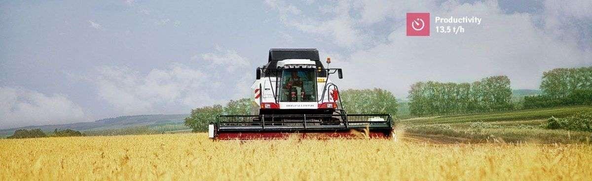 Rostselmash Vector 425 podczas koszenia zbóż wydajność do 13,5t/h