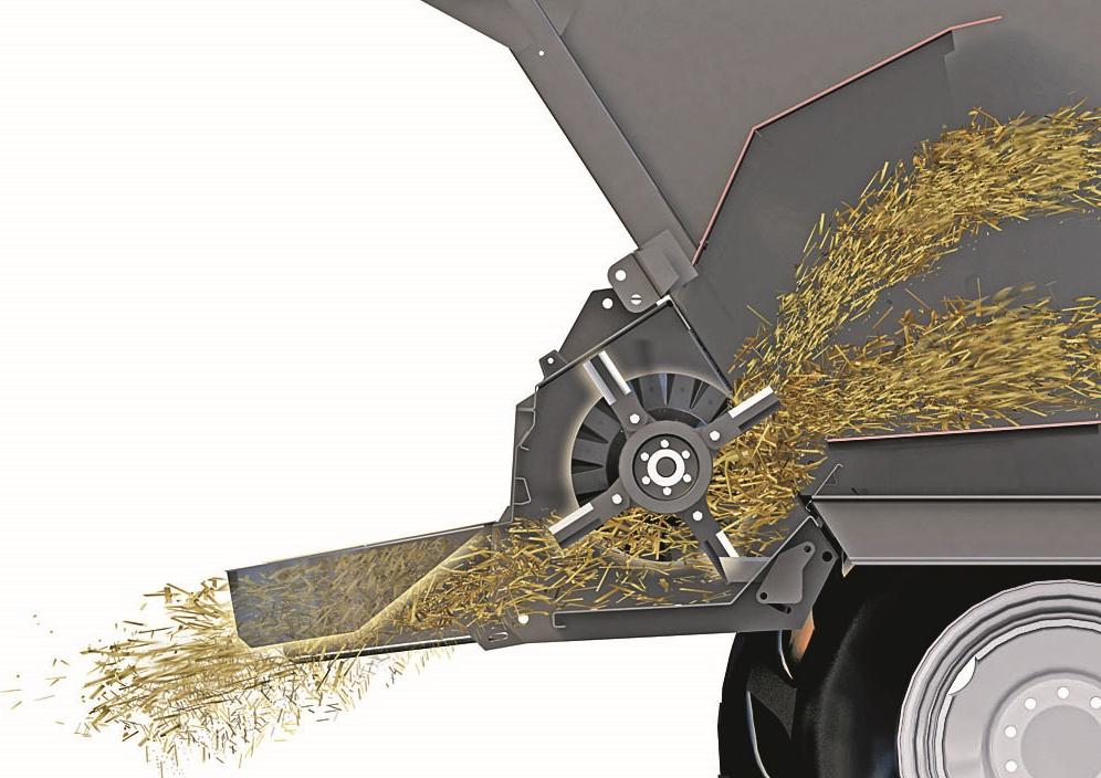 rozdrabniacz słomy w kombajnie zbożowym Rostselmash Vector 425