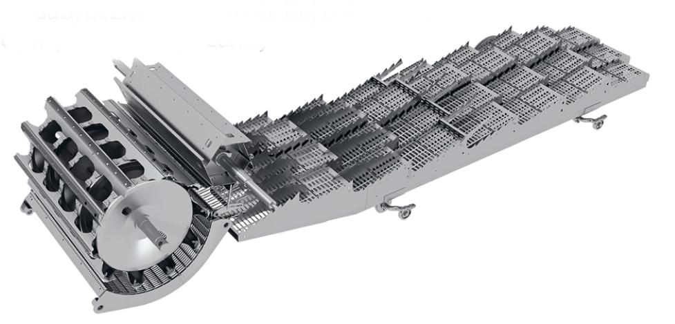 Rostselmash Vector 425 układ bęben klepisko odrzutnik wytrząsacze
