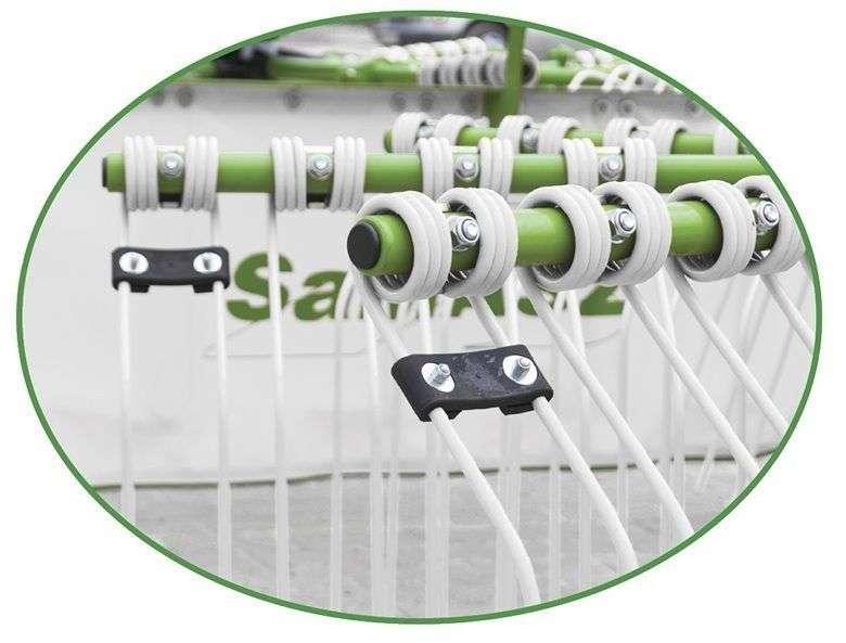 Palce zgrabiające - nowy model - trwalsze i lepiej zgrabiają duży pokos w zgrabiarkach Z2 firmy Samasz