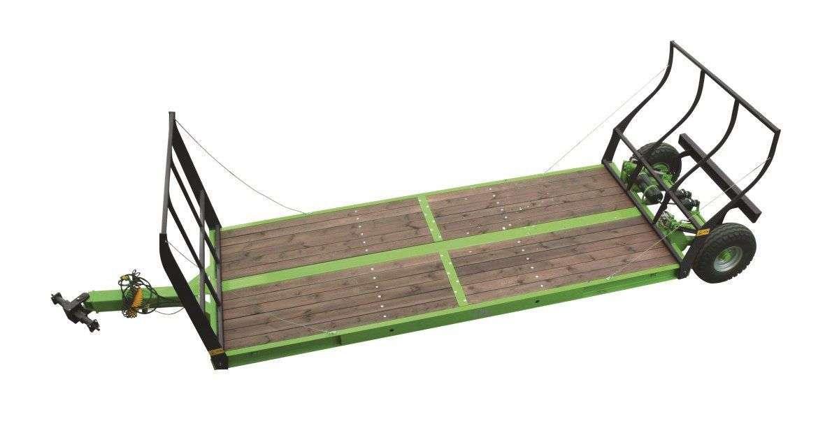 Przyczepa p Long do transportu maszyn rolniczych skrzyń sadowniczych bel słomy