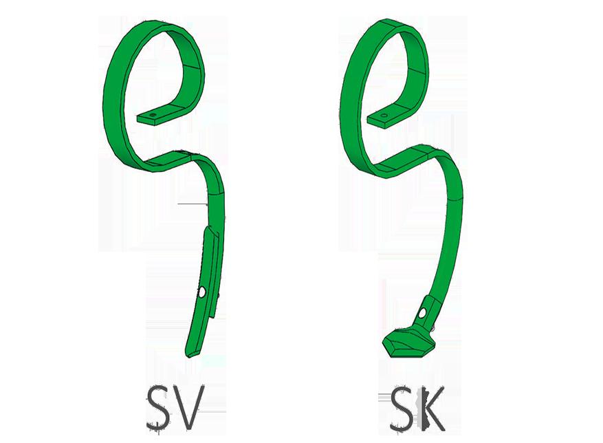 Zdjęcie przedstawiające możliwość wyboru zębów SV i SKw agregacie UNIA VIKING.