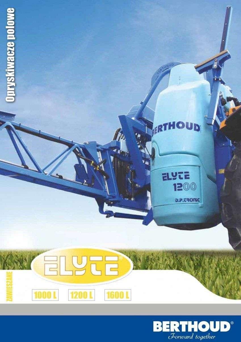 Opryskiwacz Berthoud Elyte prospekt za danymi technicznymi